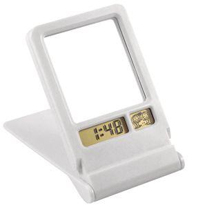 Espejo con reloj alarma