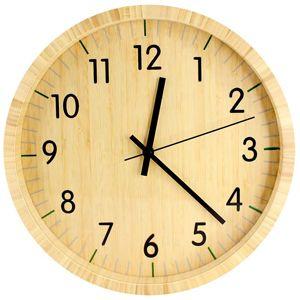 Reloj de pared de bamboo