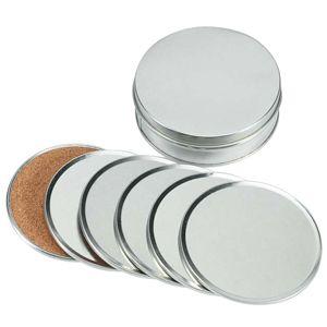 Set de posavasos aluminio