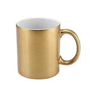Tazón Cerámico dorado sublimable
